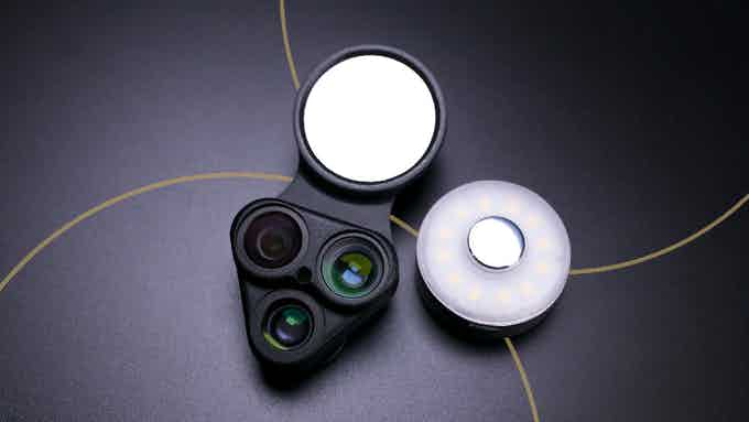 With RevolCam™ you get three high-quality lenses in the Multi-Lens system, wide-angle, fisheye and macro lenses that give you a solution for every situation