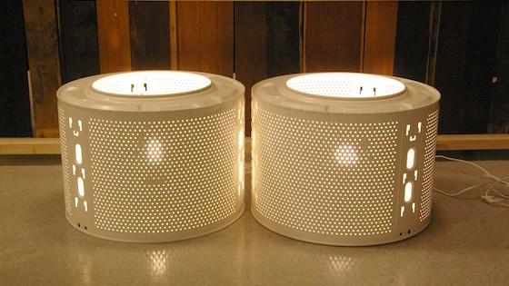 Washing Machine Drum floor, pendant, standard and table lamp