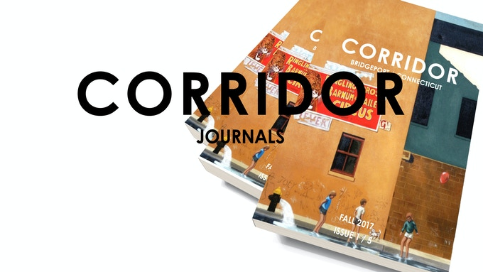 Donate to receive the first issue of Corridor (the cover design depicted is not final)