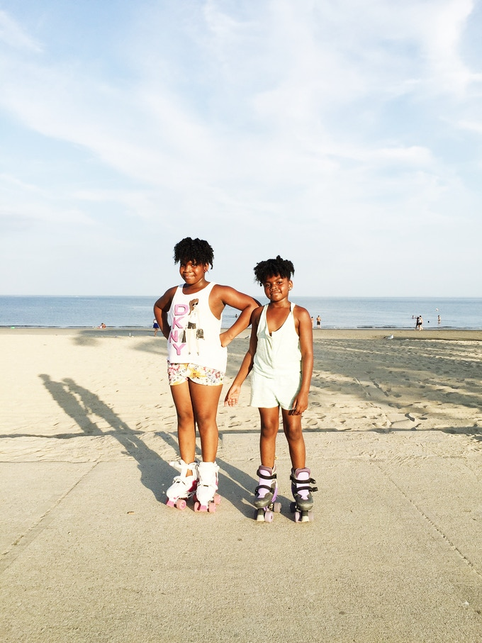 Girls Skating at Seaside Park, Bridgeport, CT. Photo Courtesy of Marcella Kovac