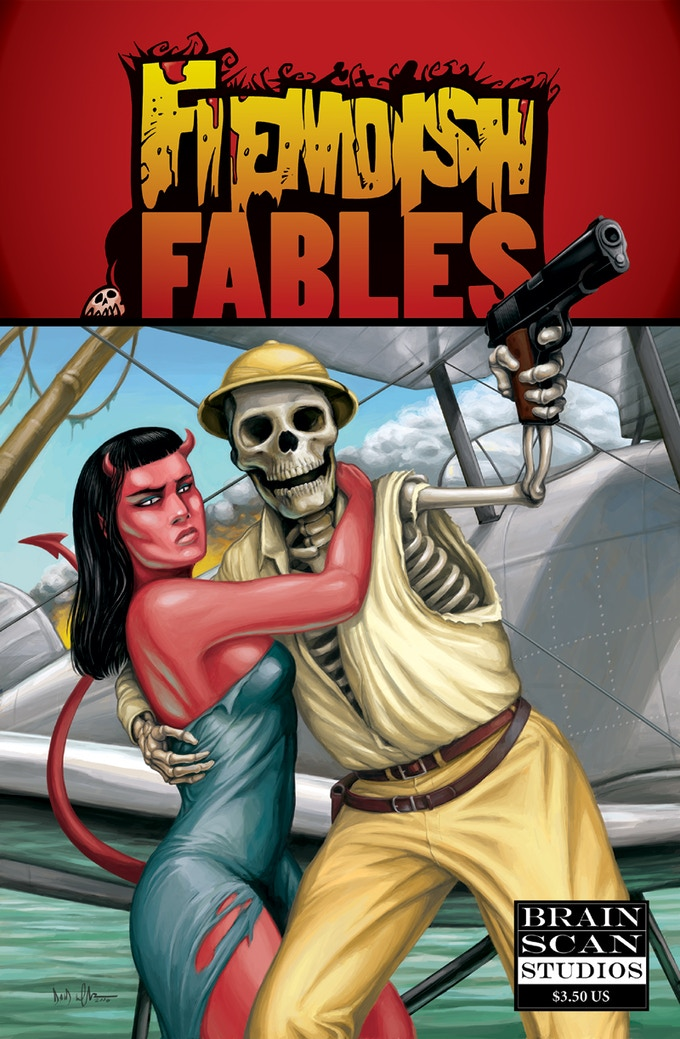 Fiendish Fables #1 cover art by David Wachter