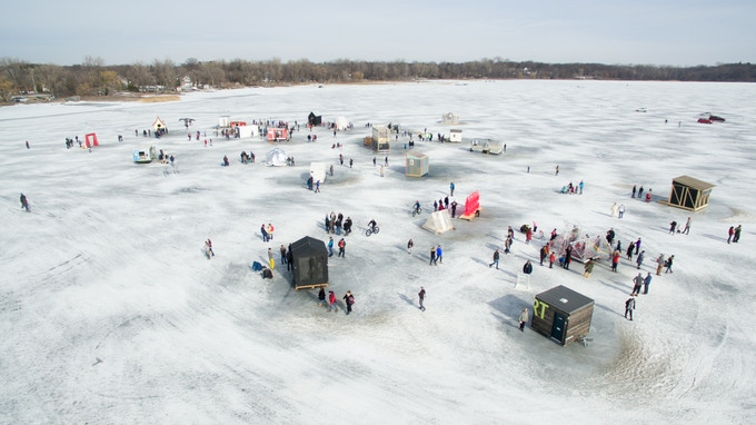 View from above of 2017 Program on White Bear Lake