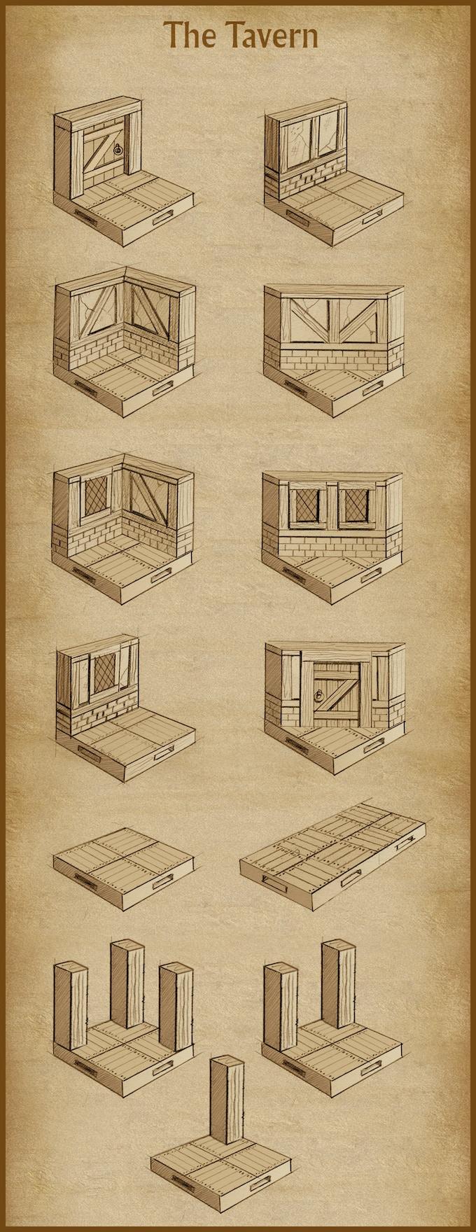 'The Tavern' terrain set (final design subject to change).