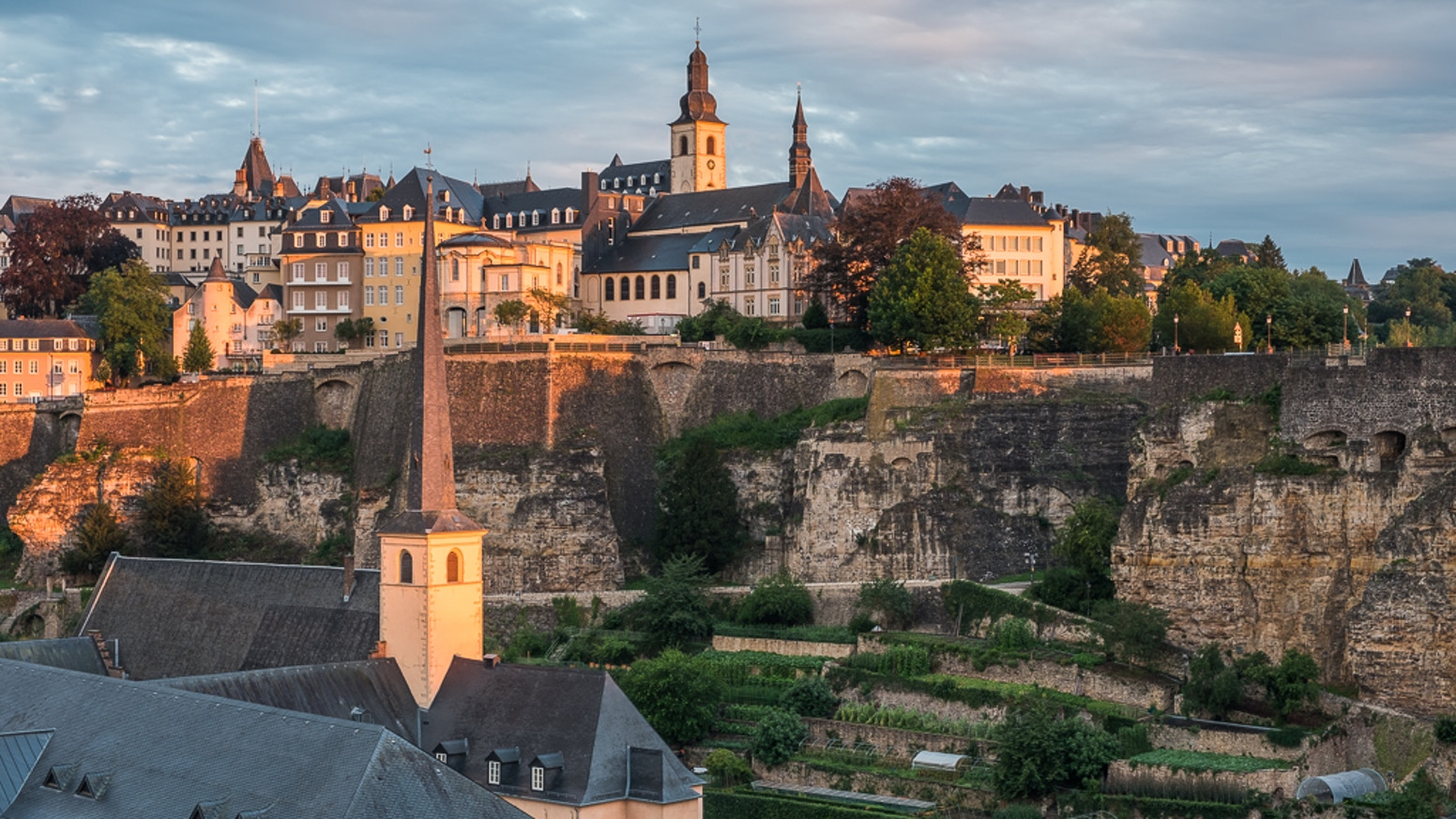 A calendar for 2018 and new postcards with unique landscape pictures of Luxembourg made by local artist Christophe Van Biesen