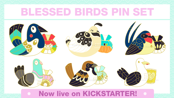 Blessed Bird Pin Set
