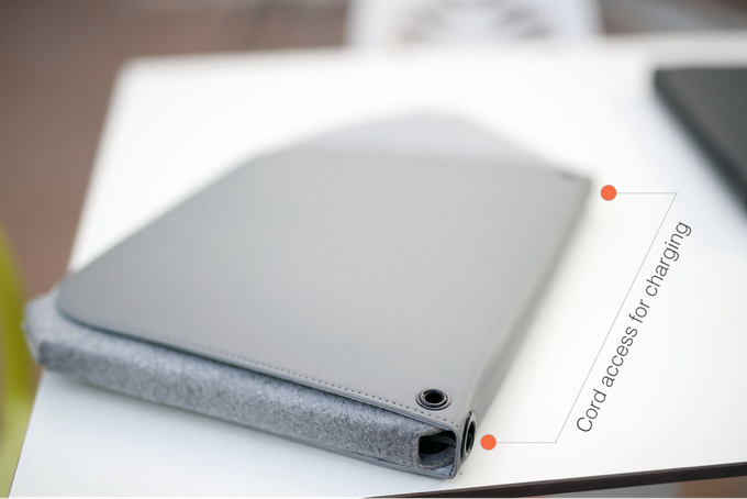 Convenient access to laptop ports for charging