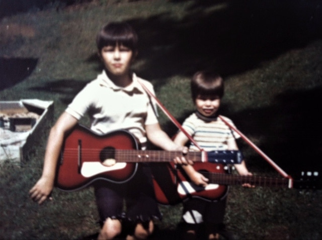 Me and my little brother Pat performing in our backyard sometime in the very early 70's or late 60's