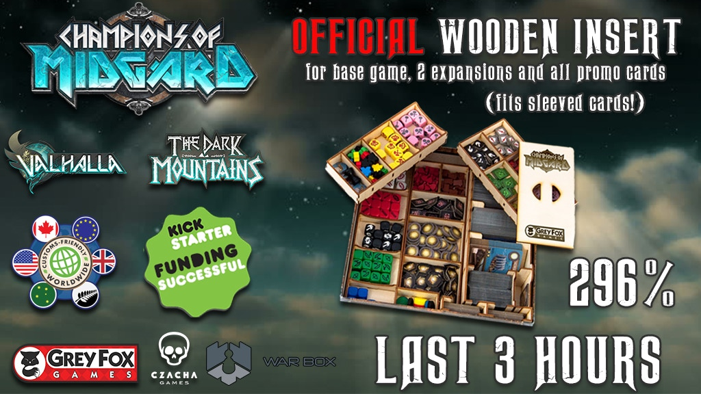 Champions of Midgard official wooden insert project video thumbnail