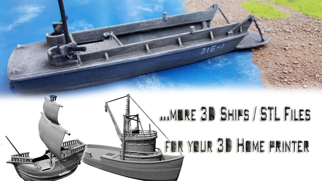 more 3D printable ships and accessories (STL Files) project video thumbnail