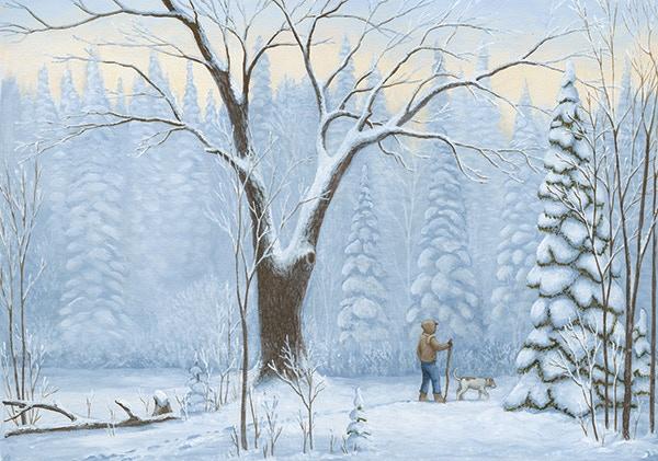 A Walk Through The Winter Woods By Monroe Art Studio Kickstarter