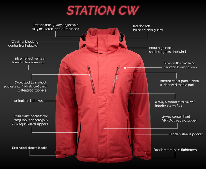 Station CW Insulated Jacket Features (Men's & Women's)