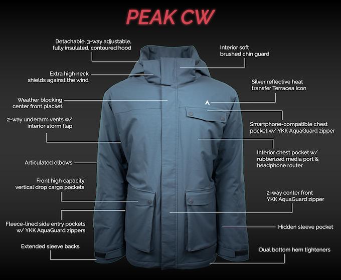 Peak CW Insulated Jacket Features (Men's & Women's)