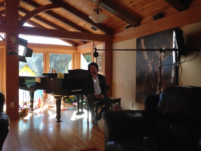 On set with Steve Lukather