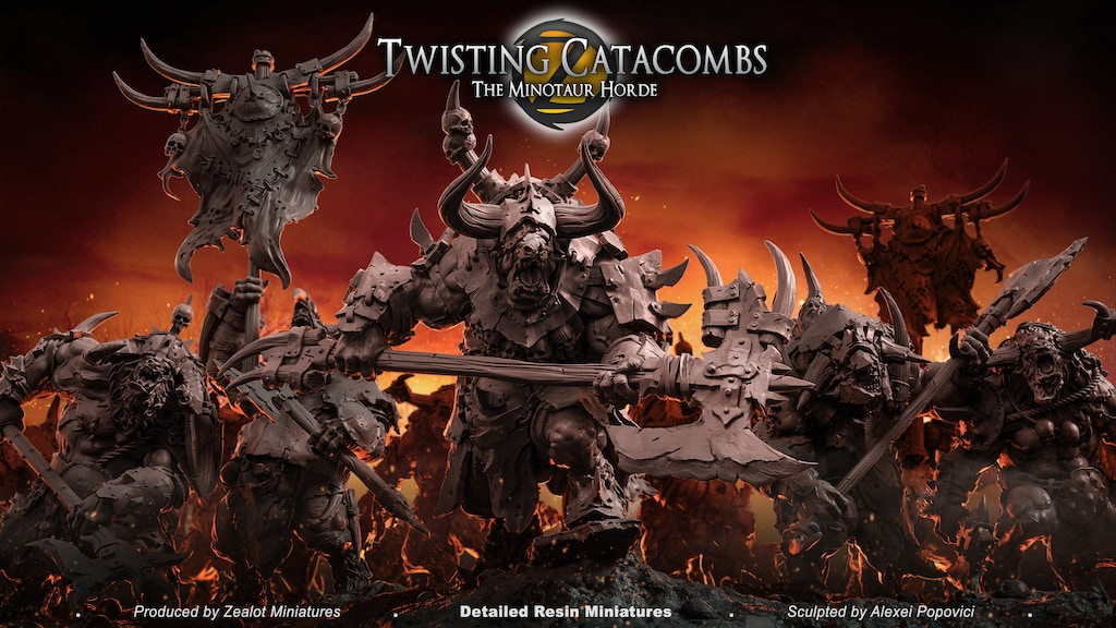 Twisting Catacombs . The Minotaur Horde project video thumbnail