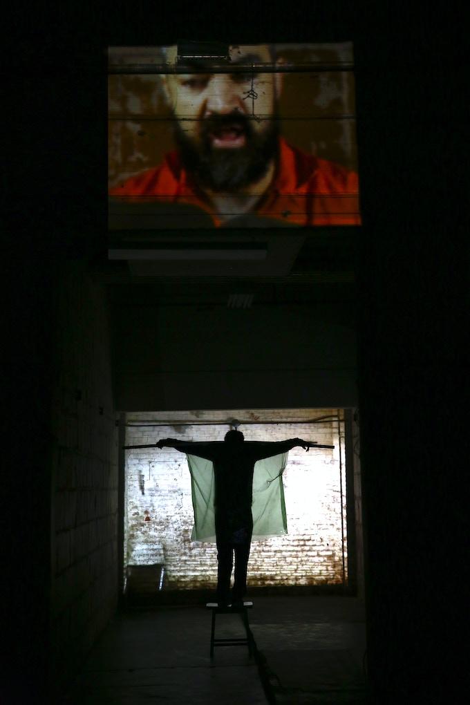 Ian Belton on video and Jake Denney in EL workshop, © Paula Court