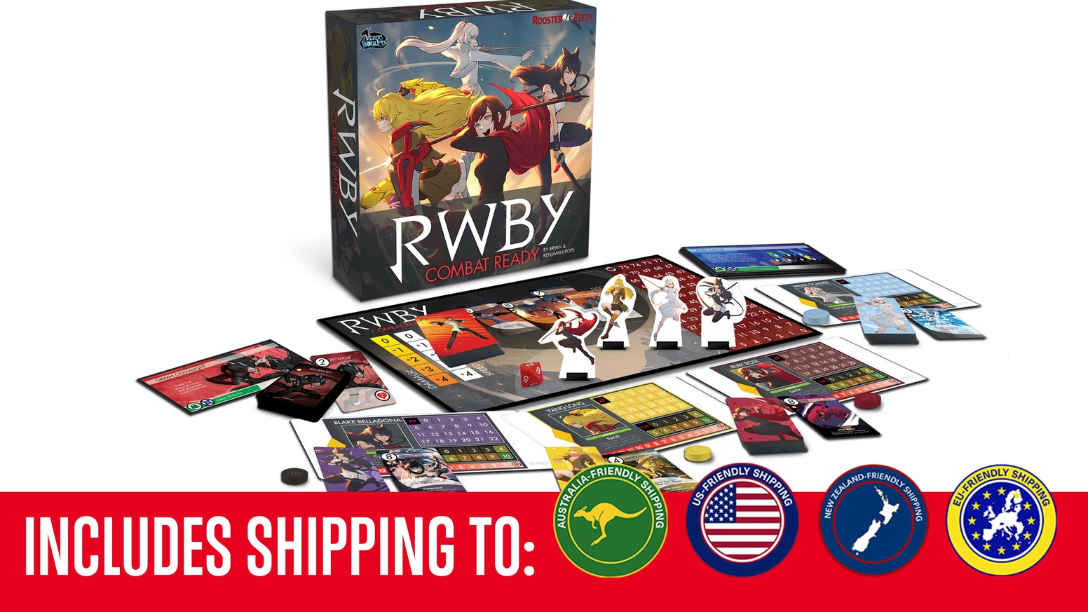 RWBY: Combat Ready is a cooperative board game where 2-4 players join forces to take on fierce RWBY villains and slay monstrous Grimm!