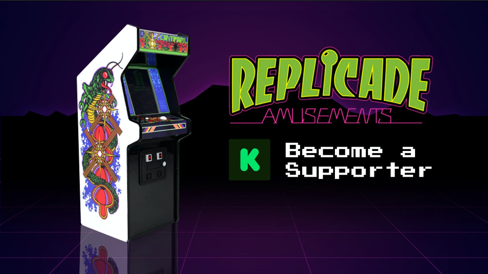 Arcade-accurate 1/6th scale replica Centipede Collector's Edition. Wood + Metal construction. Mini Trackball. Modern tech.