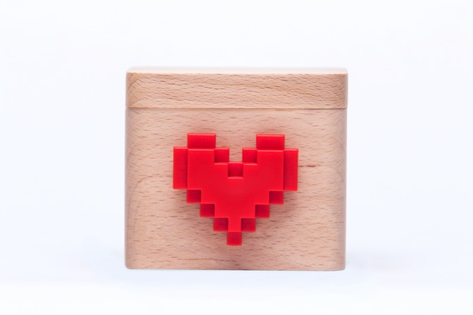 Every Lovebox is delivered with this playful pixel heart!