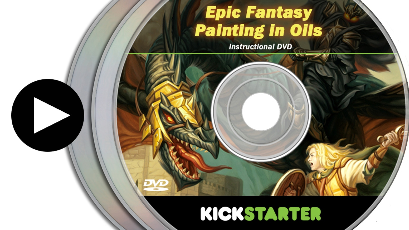 A massive instructional video of the process for 2 fantasy oil paintings by renowned video game artist Mike Sass.