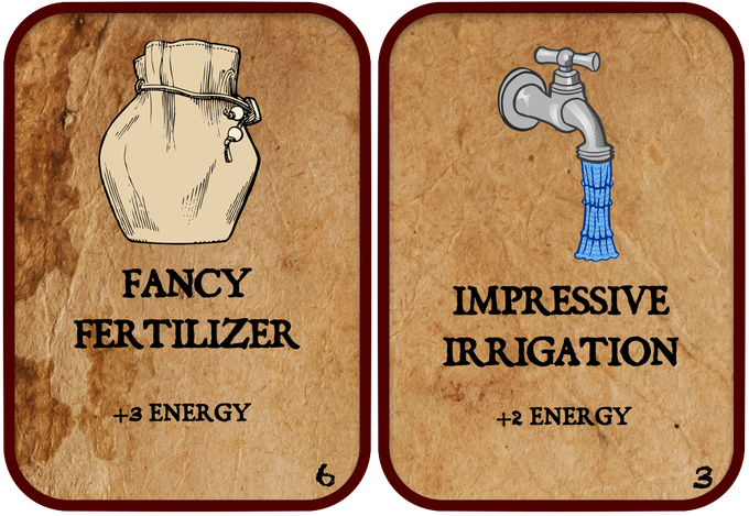The energy cards give more spending power, which translates to more powerful cards in your deck.