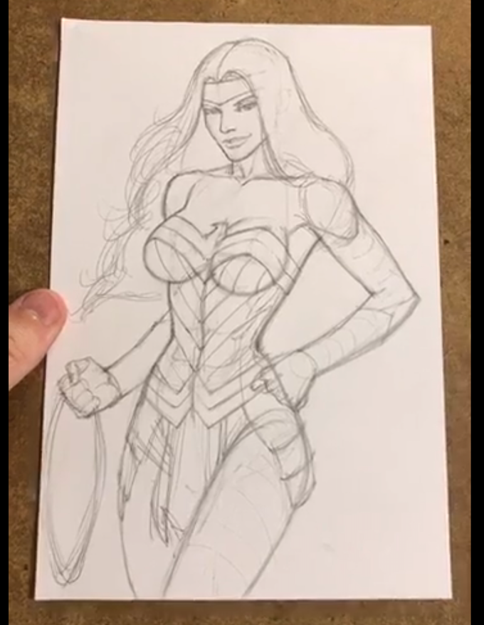 Wonder Woman LIVE Sketch Session with Andy Smith.