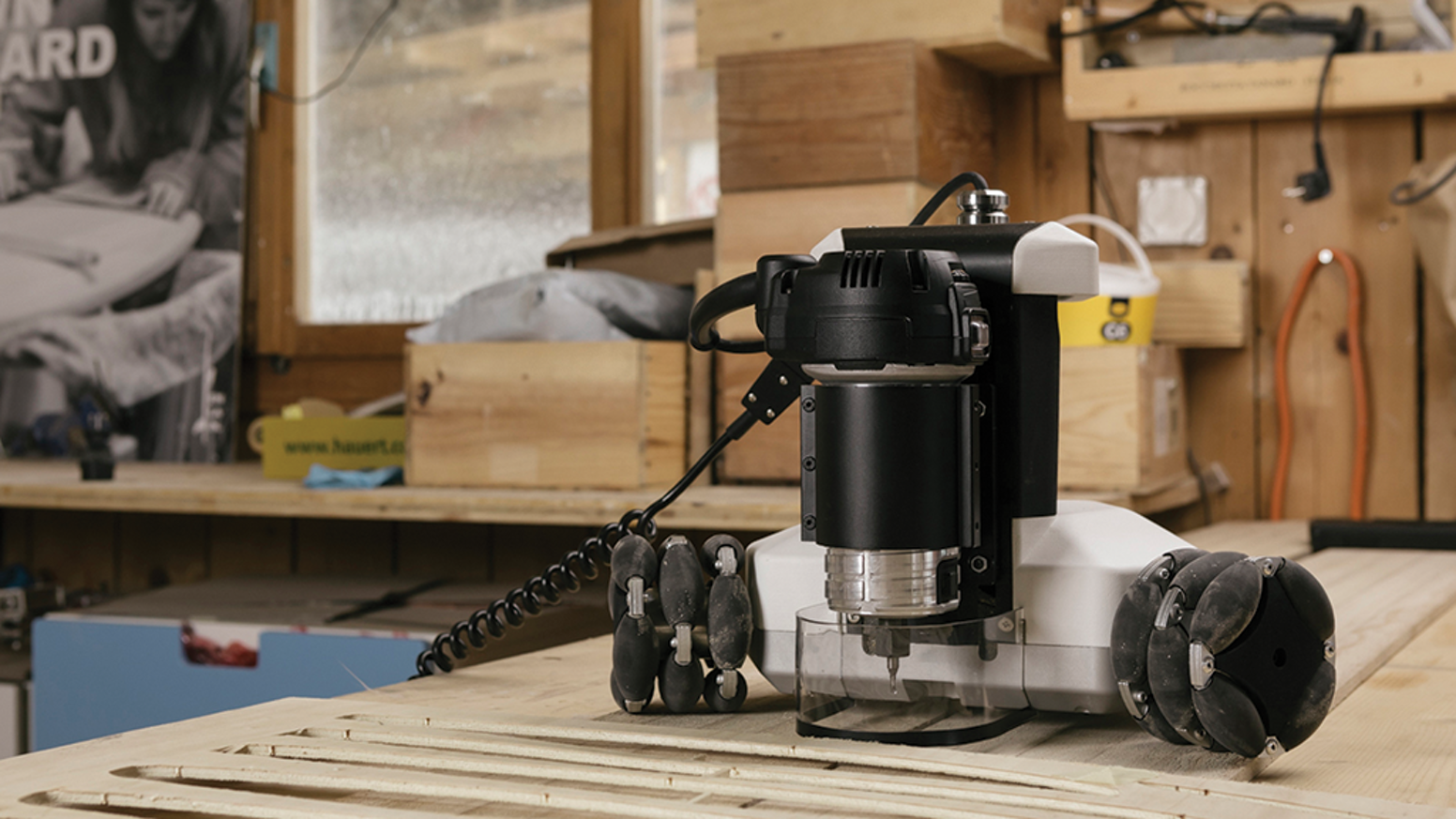A portable robot that mills, cuts, and engraves to turn BIG ideas into  tangible