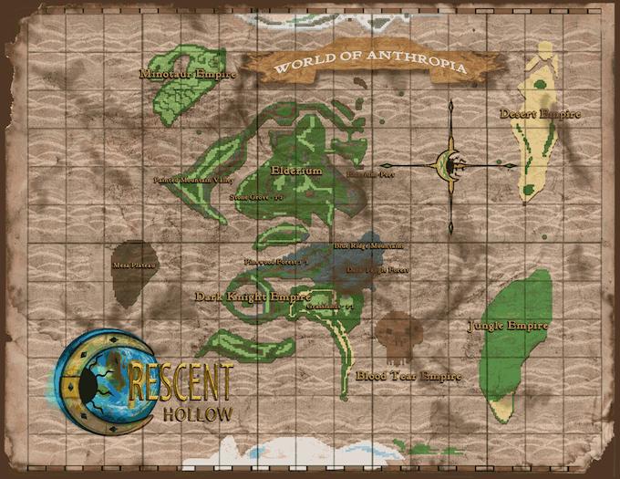 World of Anthropia (Overworld Map)