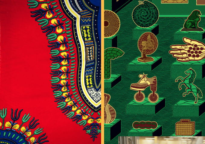 (Left) 'Angelina' aka Dashiki (Right) Heritage Dutch Wax Designs