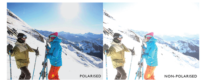 Our new polarised filter eliminates any harsh glare, providing you with an unrestricted view of the mountains