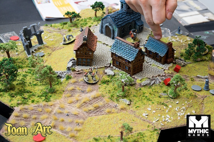 The cross of the hanged wolf Scenario (3D Demo Board for convention - Not for sale).