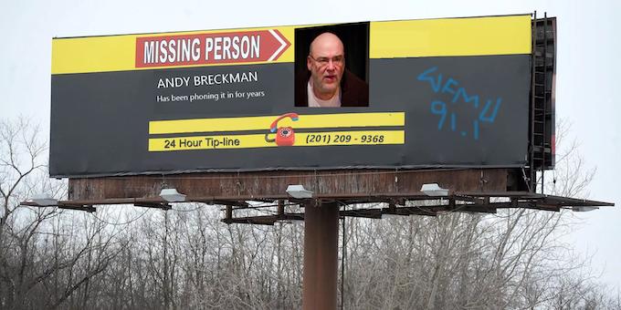 Billboard 11: Pre-vandelized Andy by listener Steve