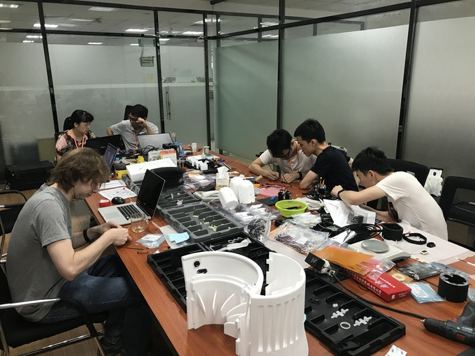 Our team working with our contract manufacturer in Xiamen, China.