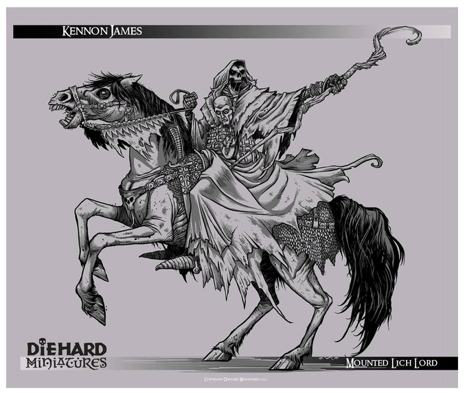 Mounted Liche, concept art Kennon James.