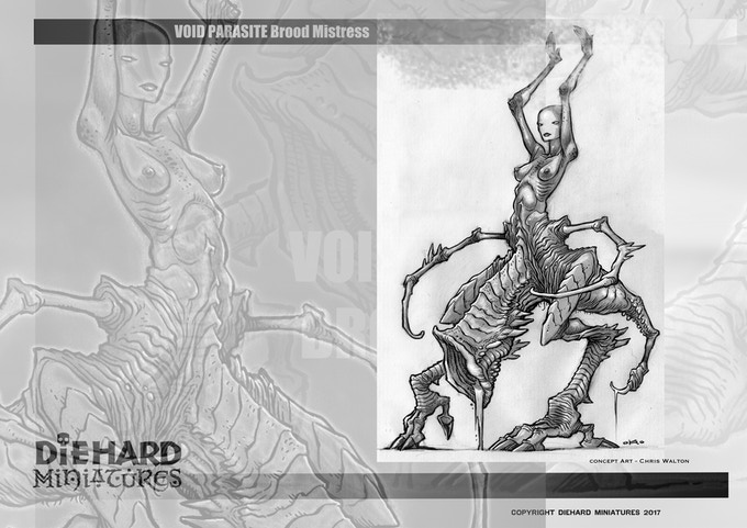 Void Parasite, concept art Kennon James. This original art will be part of one of the Pledges!