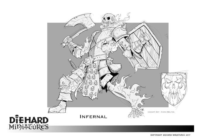 Infernal Skeleton, concept art Chris Walton.