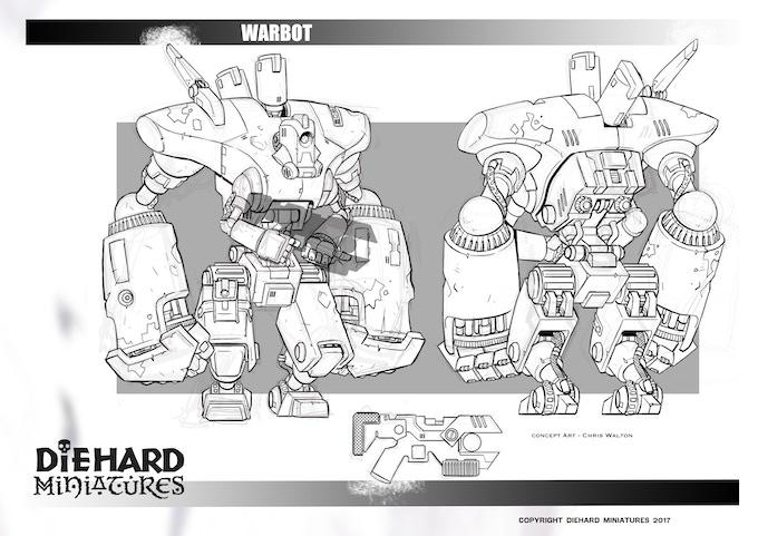 Warbot, concept art Chris Walton.