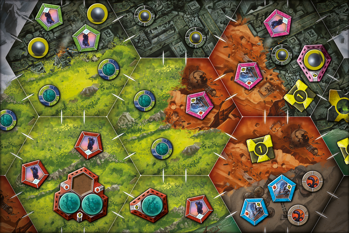 The red player's peaceful farming operation faces encroachment by the food-starved survivors of the green, pink, and blue players…