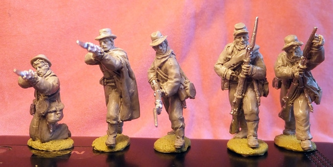 Confederate infantry in winter gear