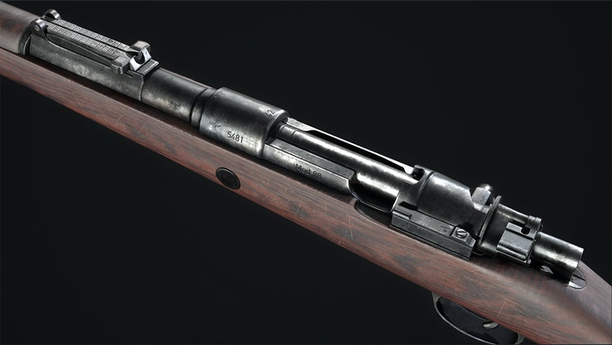 The Kar 98k - the backbone of the German forces.
