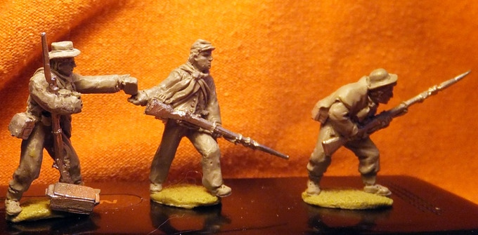 Confederates skirmishing
