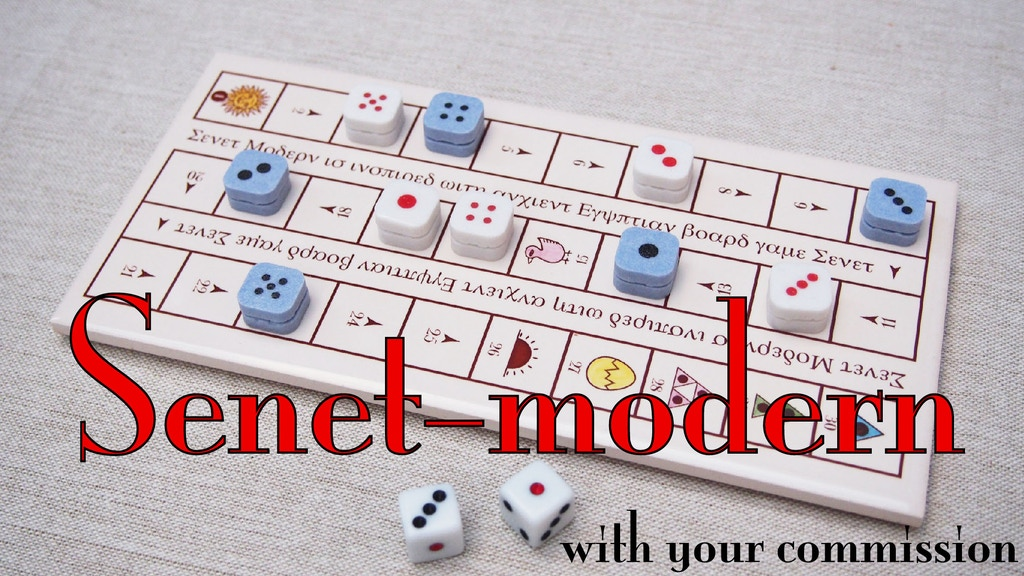 Senet-modern and customize board with your commission project video thumbnail