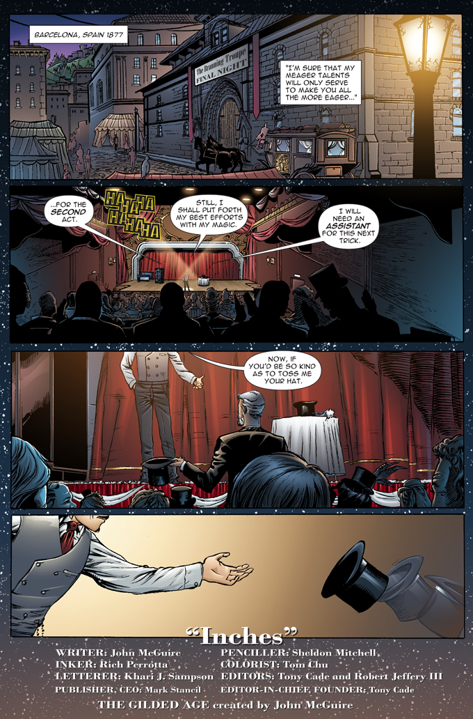 The Gilded Age - Issue #1 - Page 1 - Pencils - Sheldon Mitchell - Inks -Rich Perotta - Colors - Thomas Chu