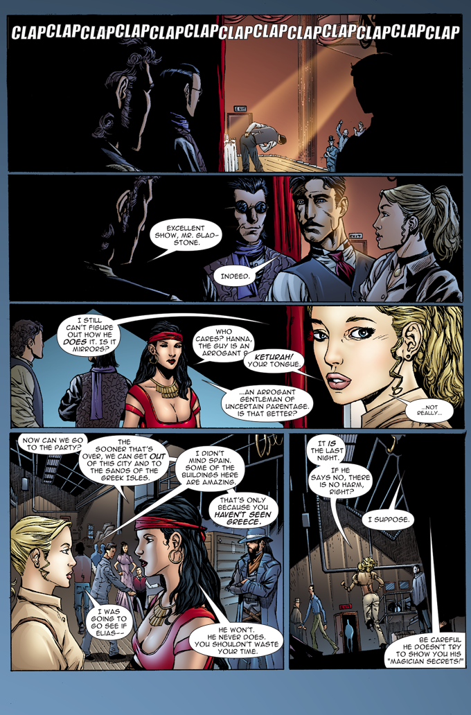 The Gilded Age - Issue #1 - Page 3 - Pencils - Sheldon Mitchell - Inks -Rich Perotta - Colors - Thomas Chu