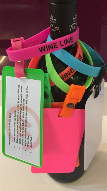 Bright colours to catch you attention, can't miss the Wine Line!