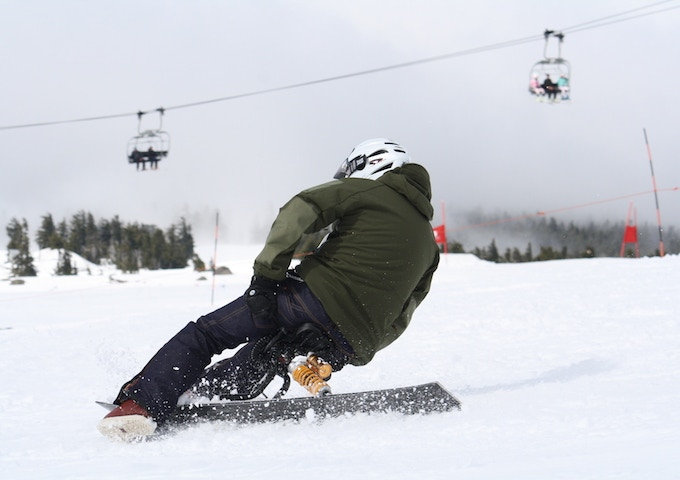 """""""The boss is back"""" Toshi Sueki returns to the slopes."""