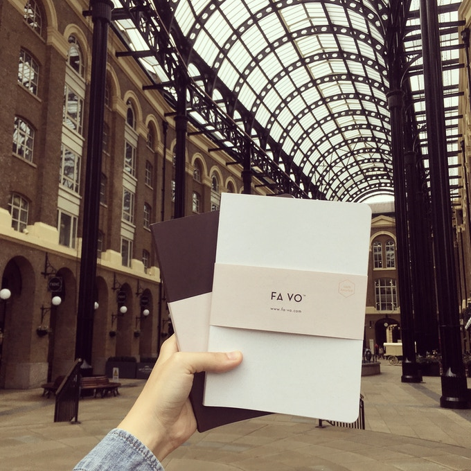 FA VO Notebooks at Hay´s Galleria, London.