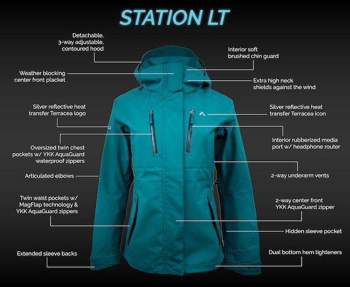 Station LT Lightweight Jacket Features (Men's & Women's)