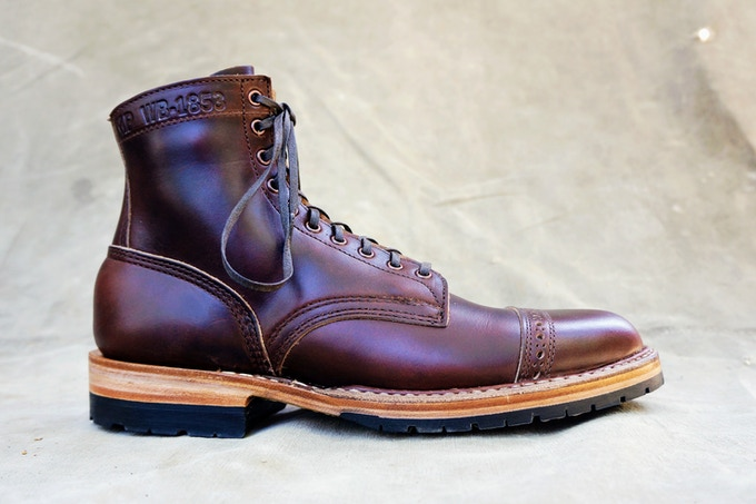 M&R Officer Boot - Horween Brown CXL with Half Mini Lug Sole
