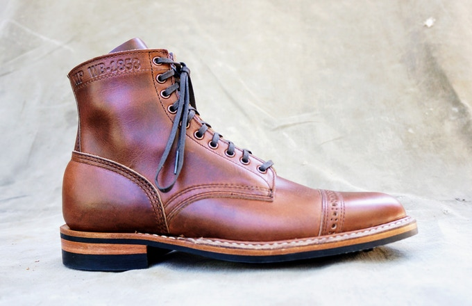 M&R Officer Boot - Horween British Tan CXL with Dainite Sole