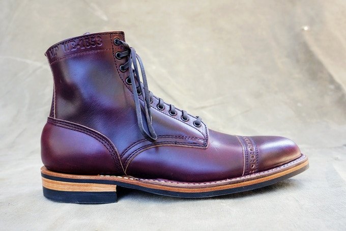 M&R Officer Boot - Horween Burgundy CXL with Dainite Sole